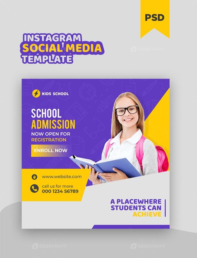 Kids Education Social Media Instagram Post Banner Template