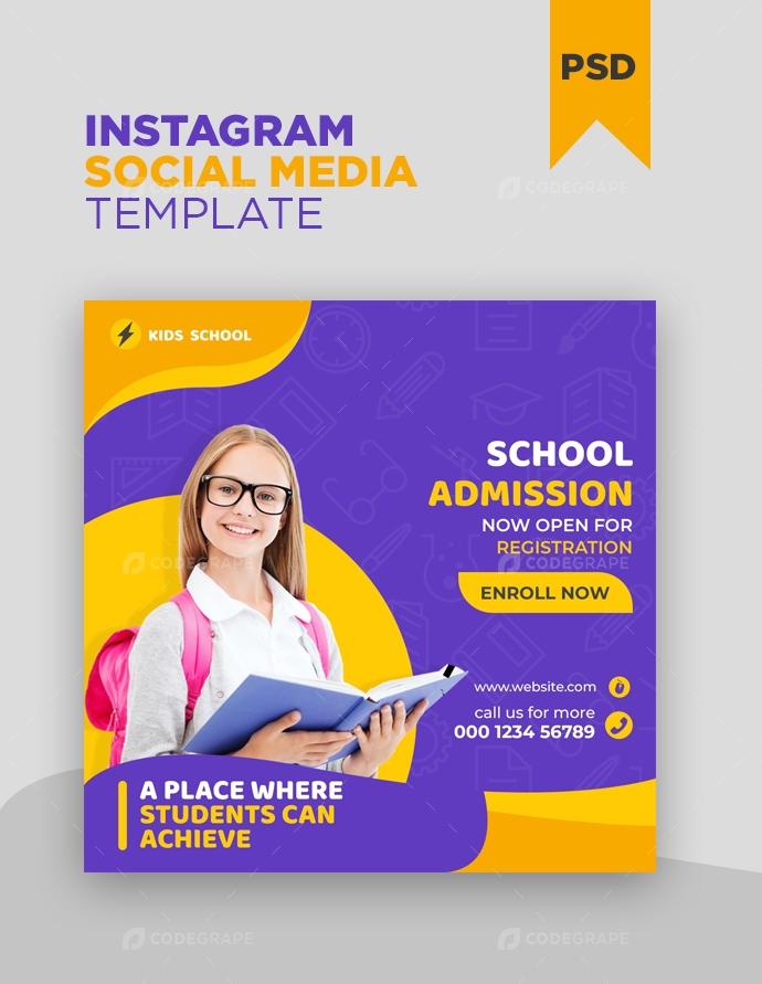 Kids Education Instagram Post Banner Template