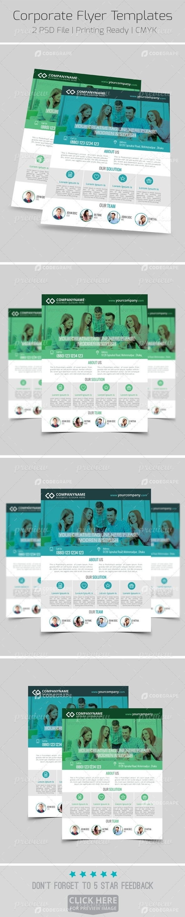 Modern Corporate Flyer Templates 2