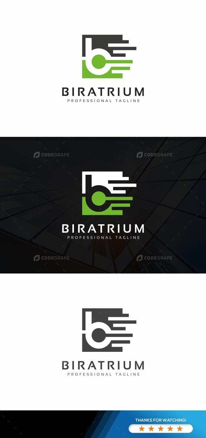 LogoB Digital Letter Logo