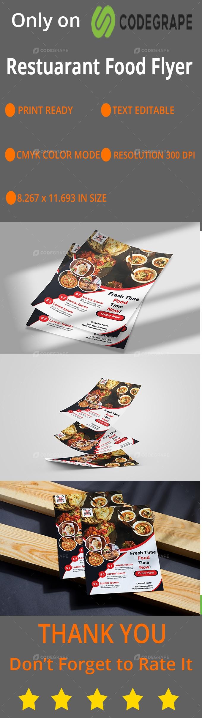 Creative Restaurant Flyer Template