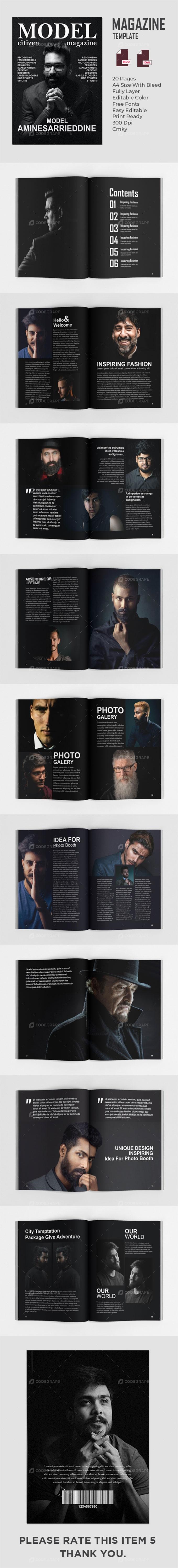 Male Modeling Magazines