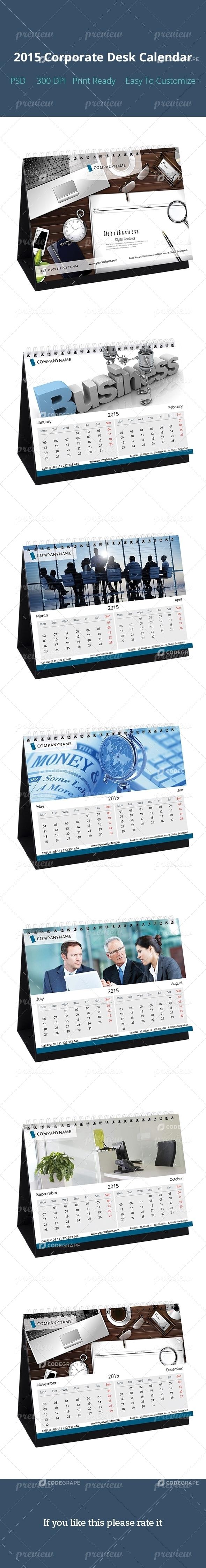 2015 Corporate Desk Calendar Design