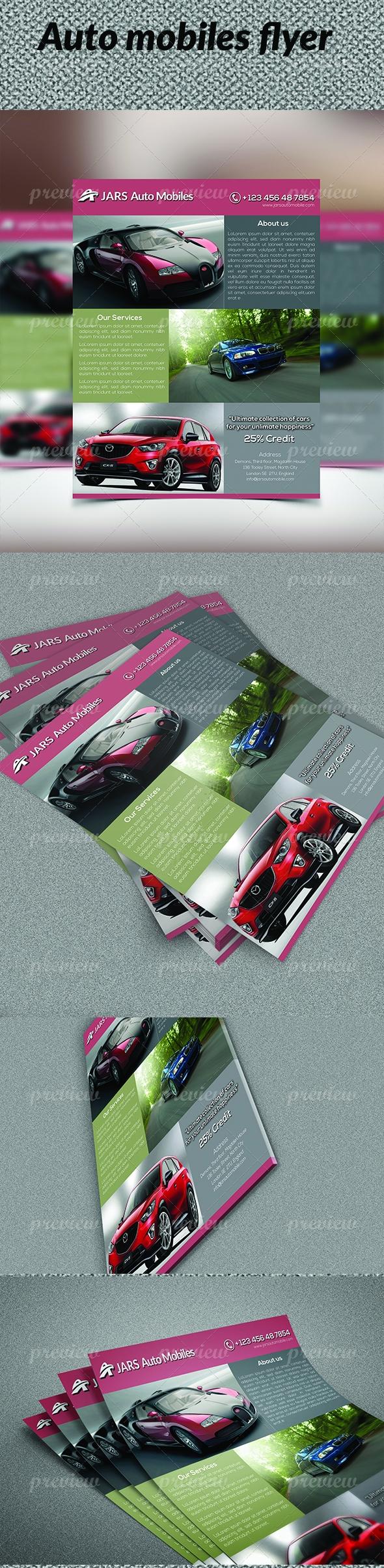 Auto Mobiles Flyer