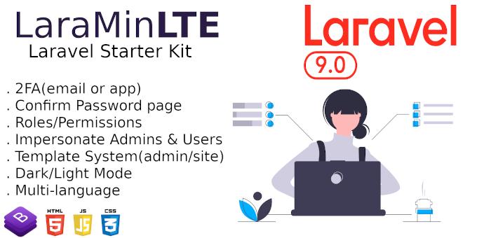 LaraMinLTE - Laravel Starter Kit