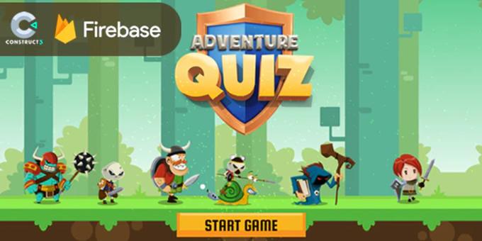 Adventure Quiz - HTML5 Game (Construct 3) + Firebase Leaderboard (No plugin)