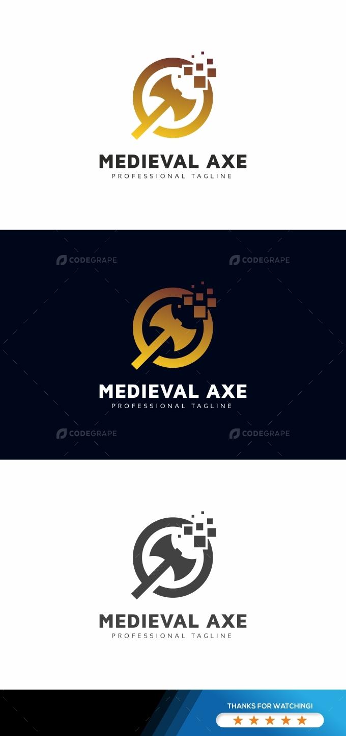Medieval Axe Digital Logo Template