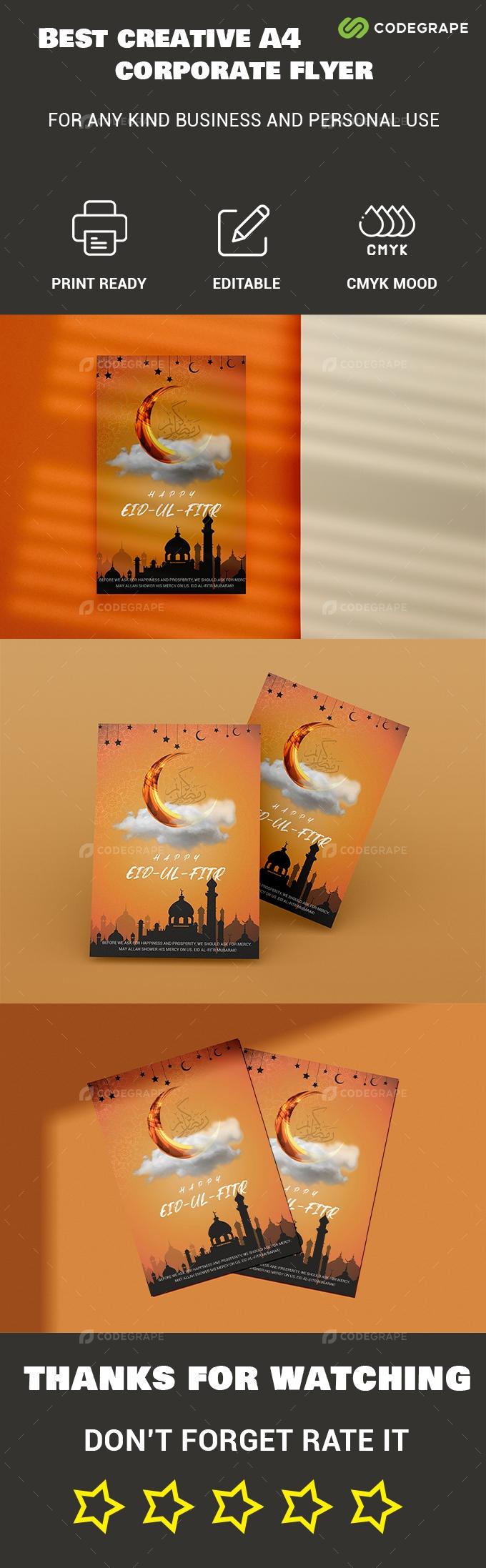 Happy Eid Ul-Fitr Poster Template