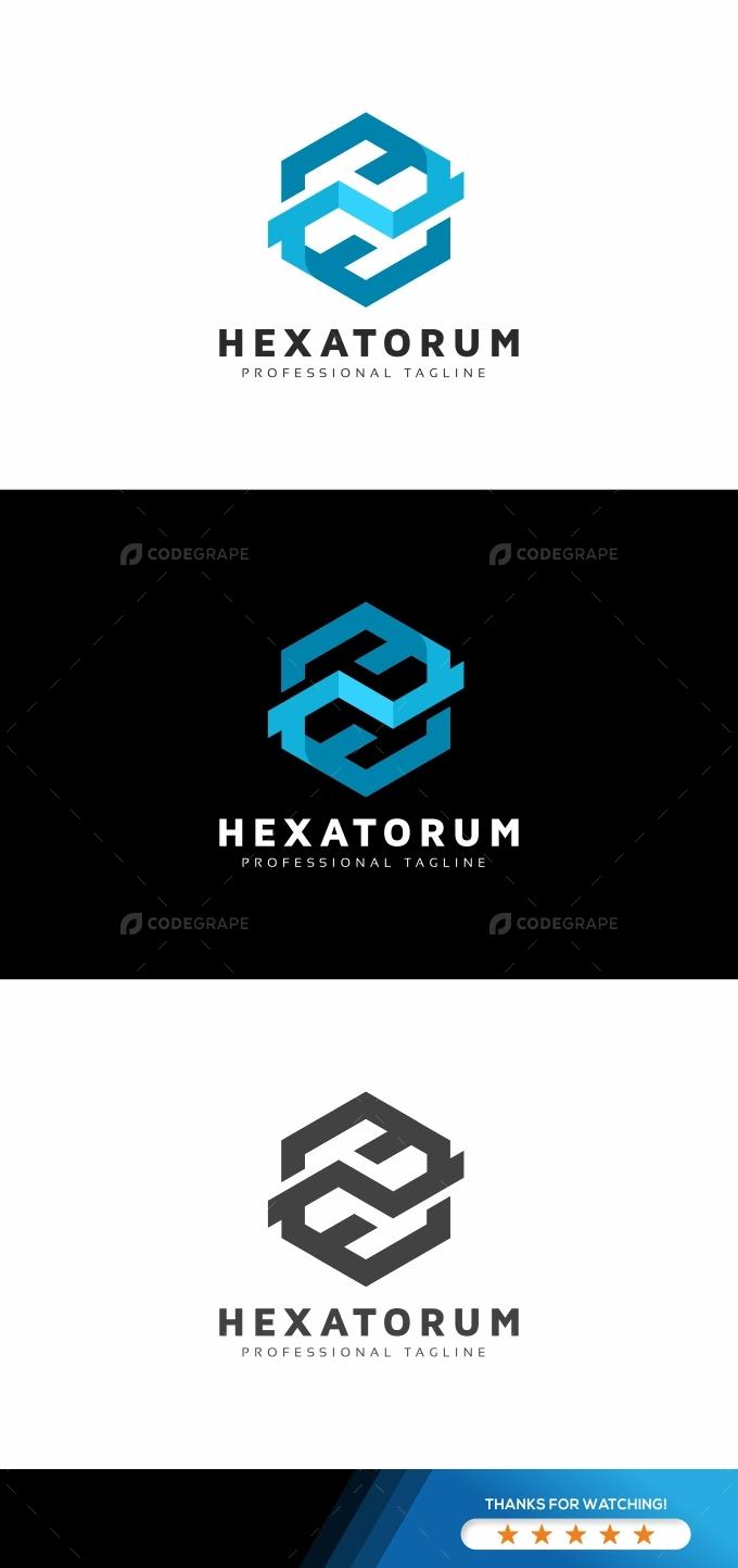 Hexagon Technology Modern Logo