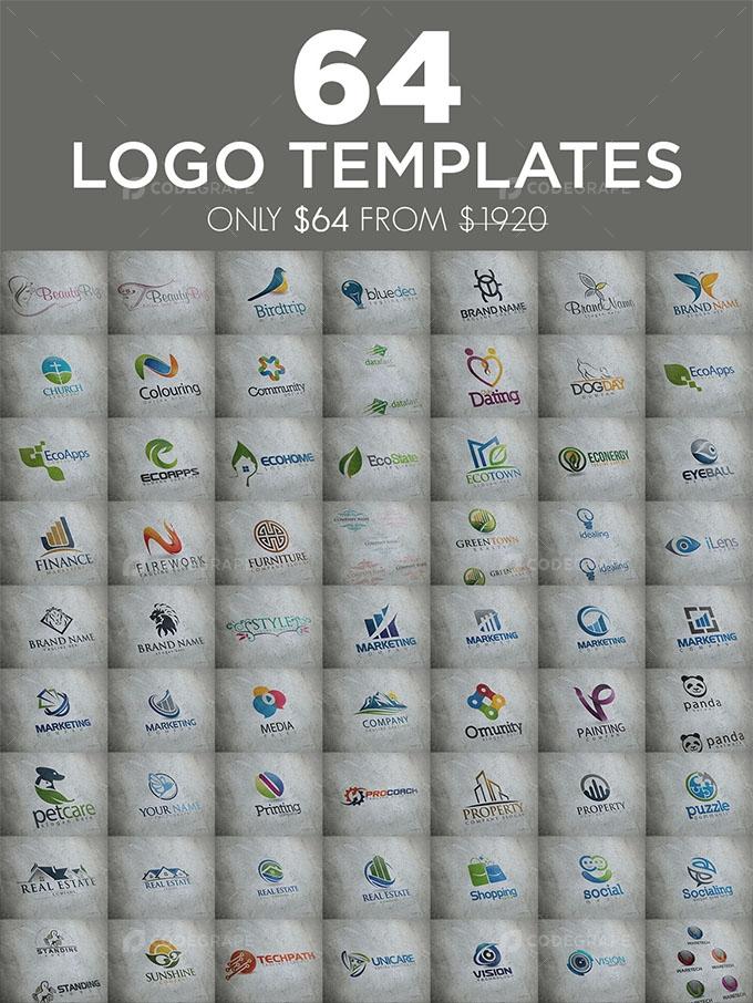 64 Logo Bundle Templates