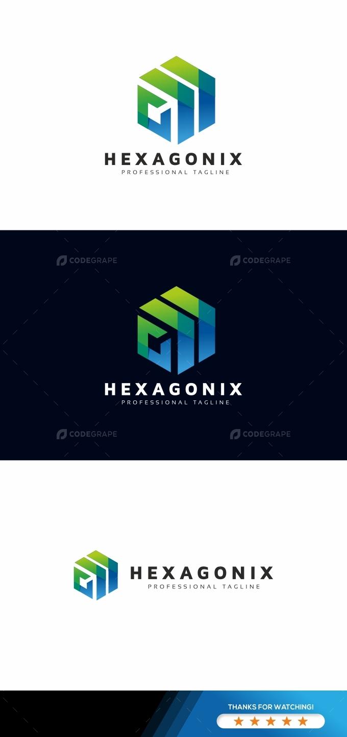Hexagon Arrows Tech Logo