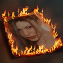 Burning Photo Image Template