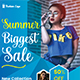 Summer Fashion Sales Promotional Flyer Template