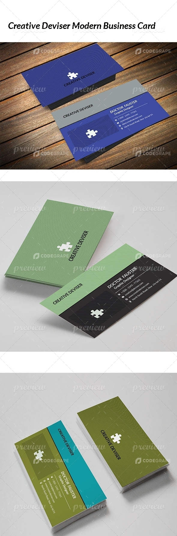 Creative Deviser Modern Business card
