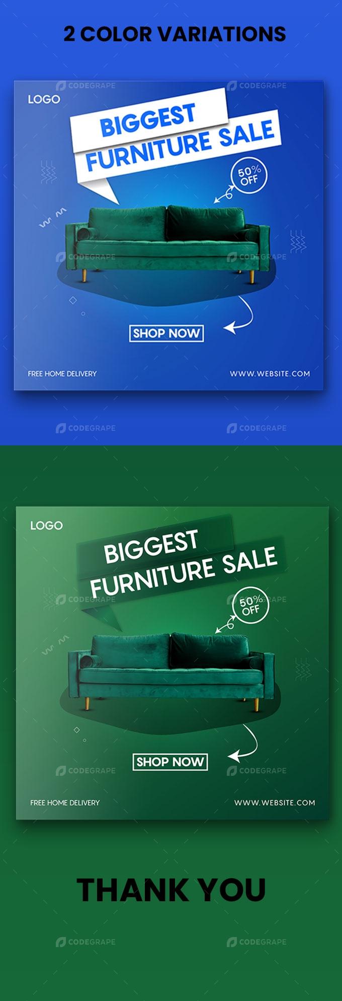 Furniture Sales Promotion Banner