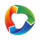 Arrows Circle Colorful Logo