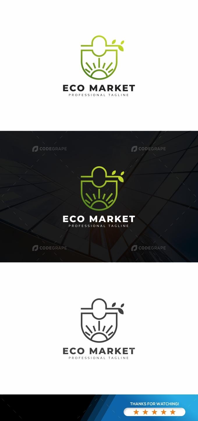 Eco Market Nature Logo