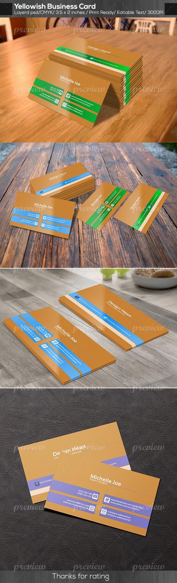 Yellowlish Business Card