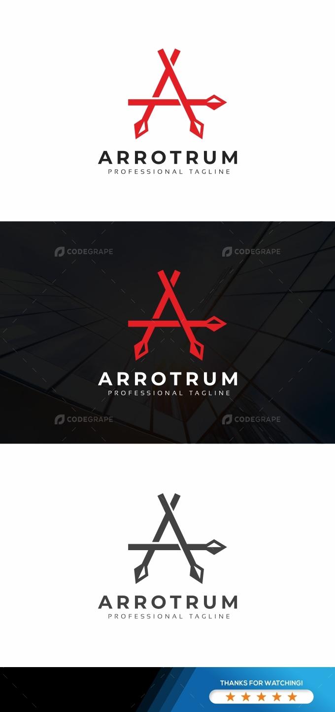 Arrotrum A Letter Logo
