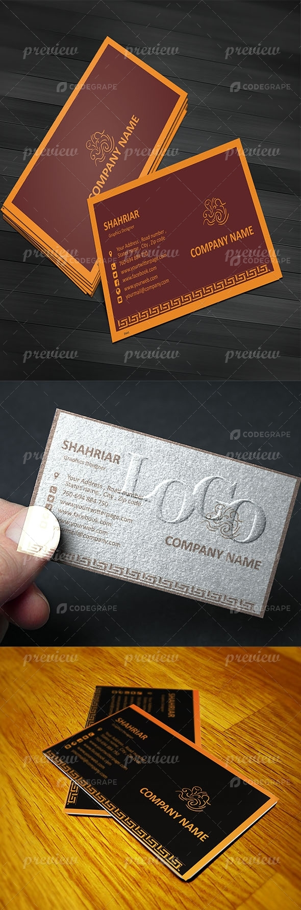 Easy Modern Business Card