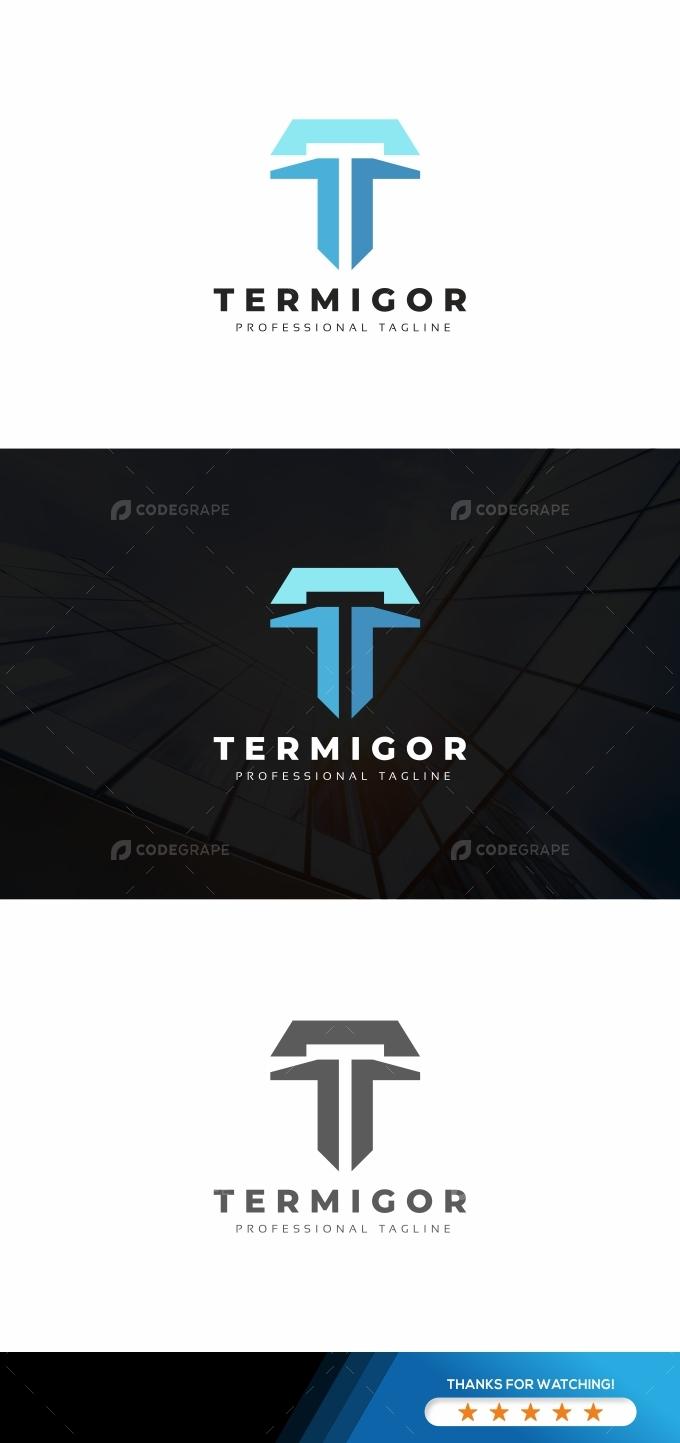 Termigor T Letter Logo