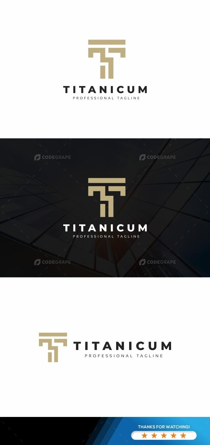 Titanicum T Letter Logo