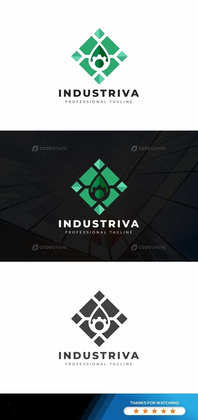 Industrial Drop Logo