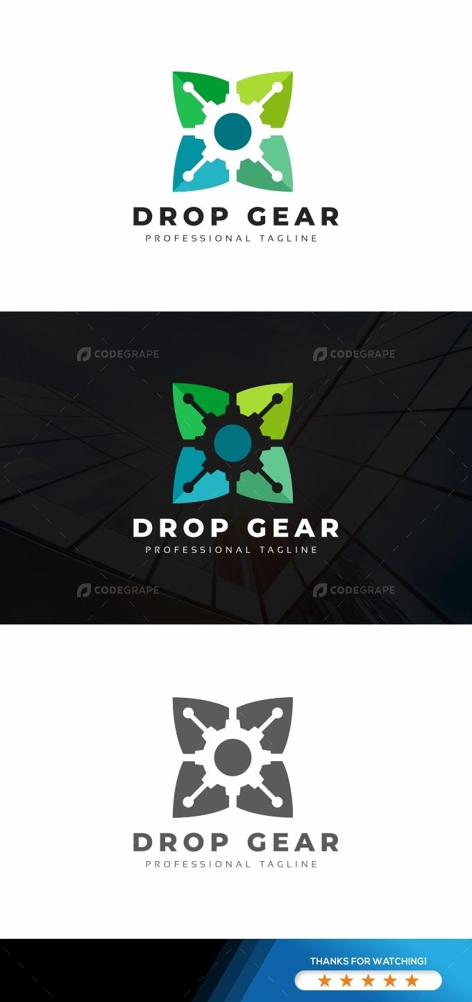 Drop Gear Leaves Logo