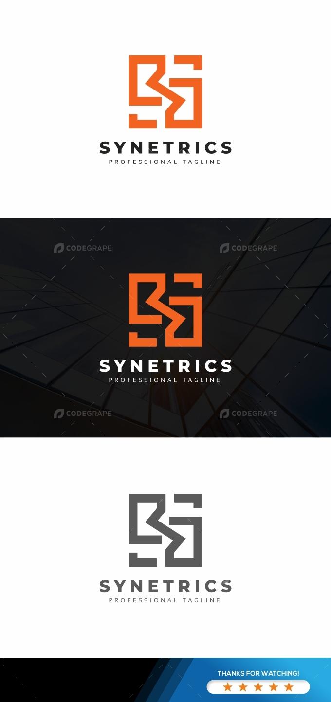Synetrics S letter Logo