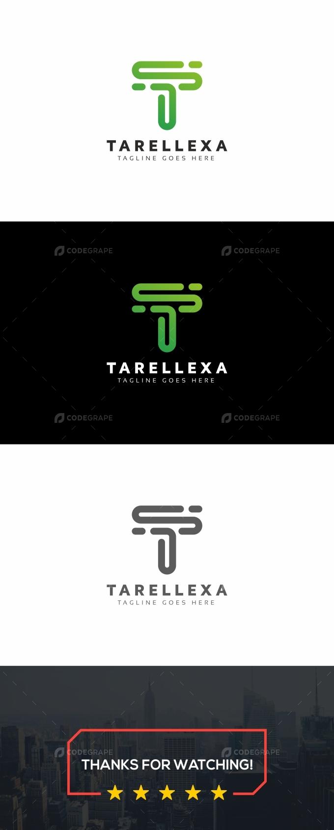 T Letter Line Logo