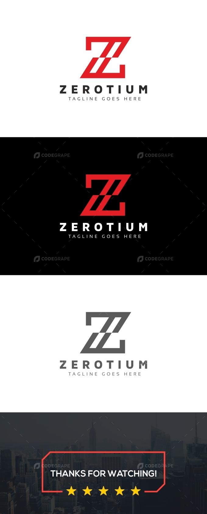 Zerotium Z Letter Logo
