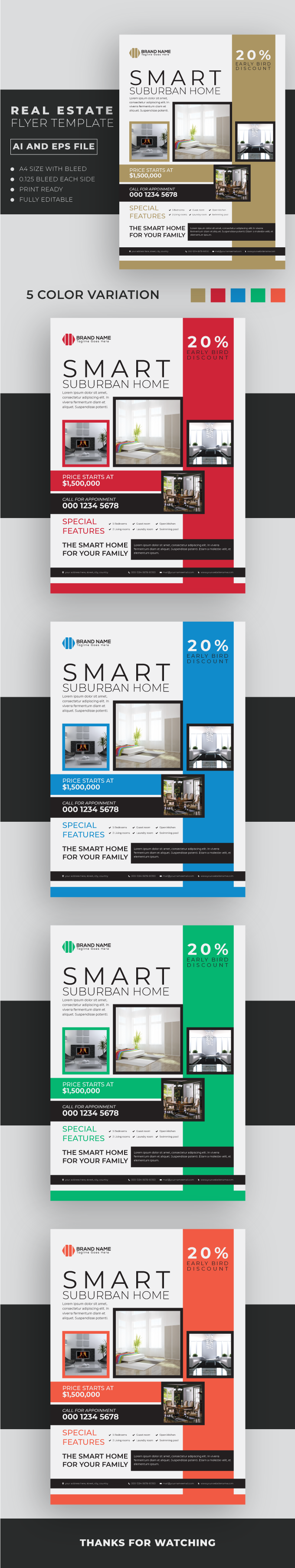 Real Estate Flyer Template 5