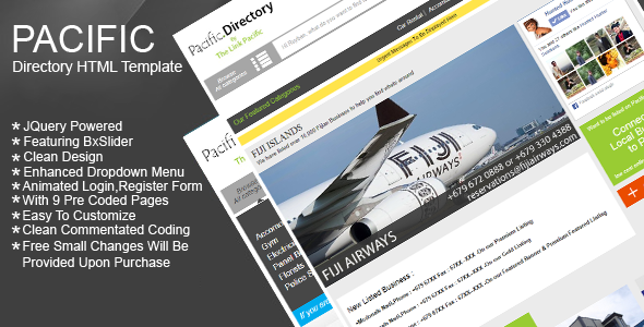 Directory Listing Site HTML Template