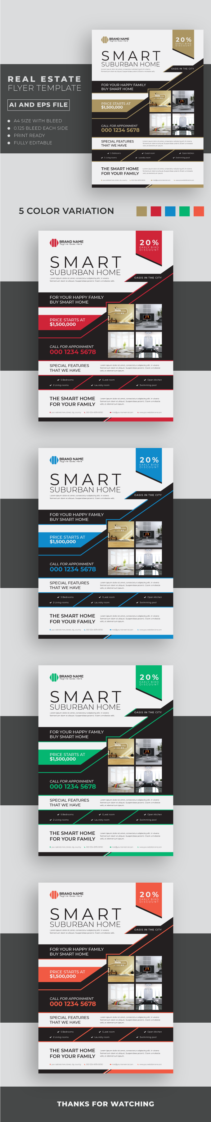 Real Estate Flyer Template 3