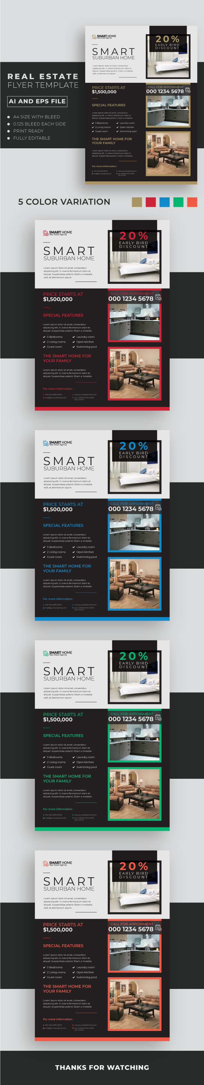 Real Estate Flyer Template 6