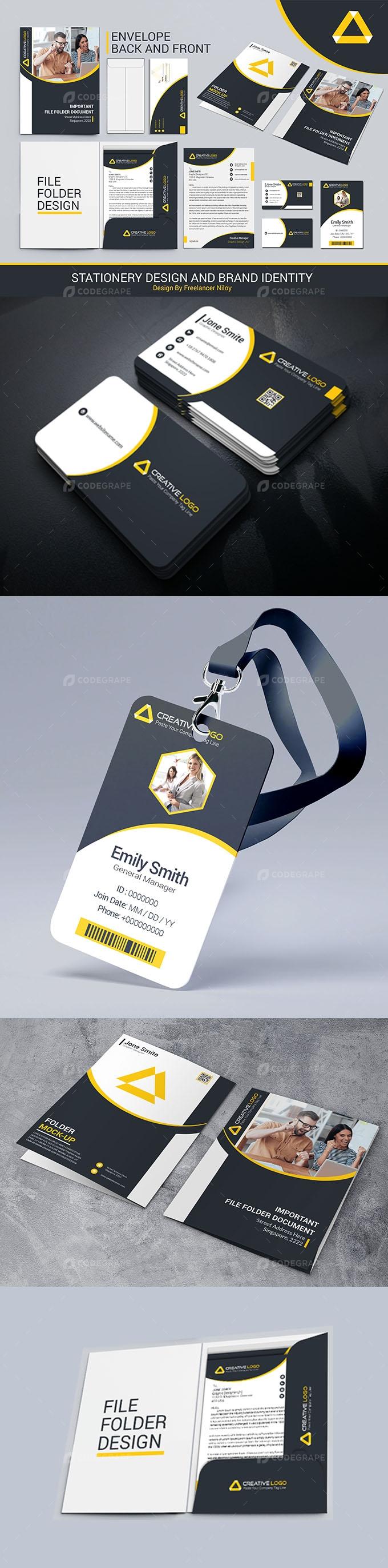 Stationery Item Design and Branding Identity Mega Pack