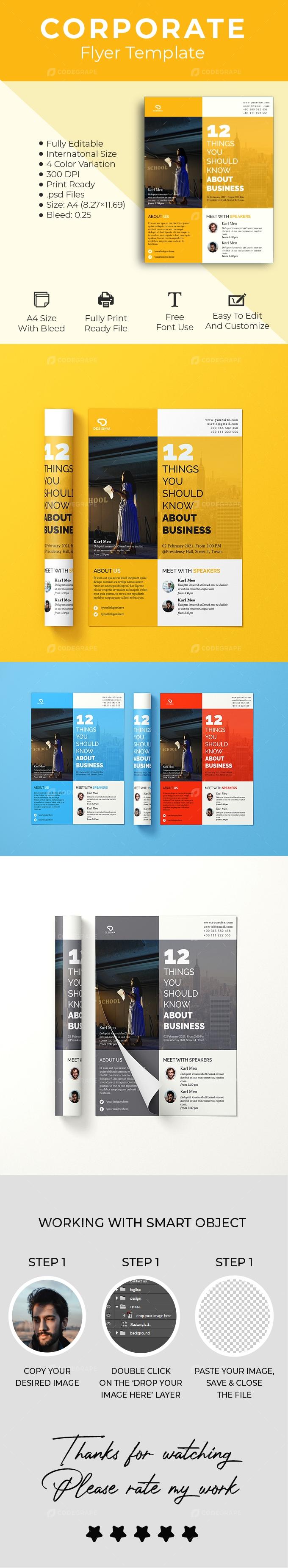 Clean Minimal Corporate Flyer Design