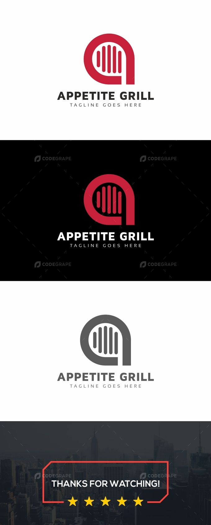 Grill A Letter Logo