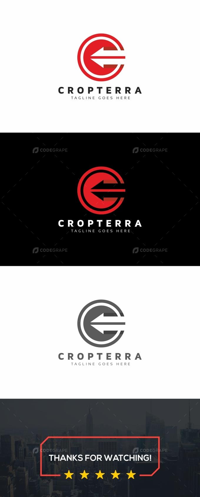 C Letter Arrows Logo