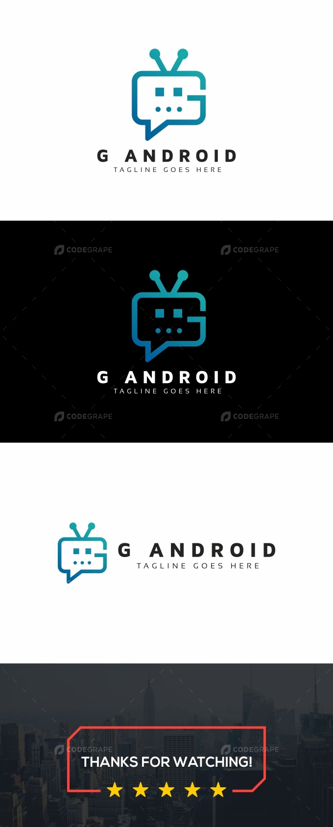 G Android Robot Logo