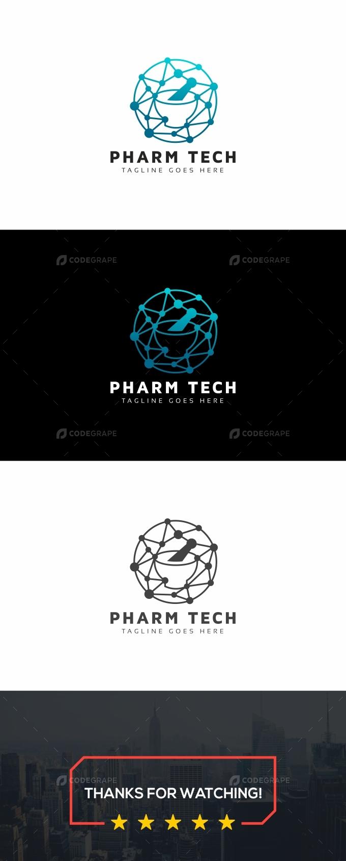 Pharm Tech Molecular Logo