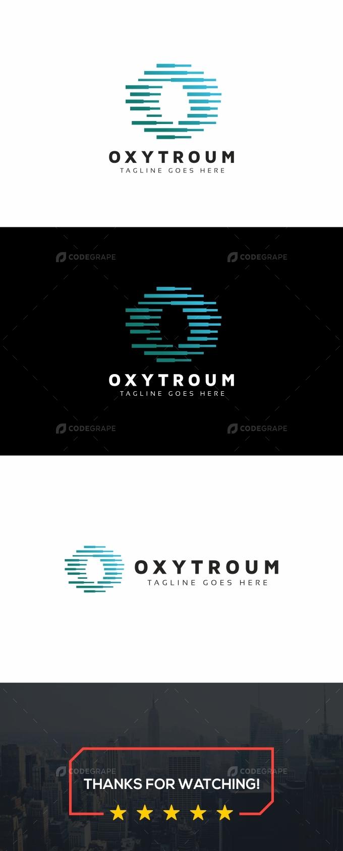 Oxytroum O Letter Logo