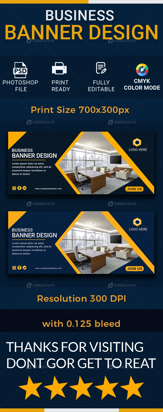 Business Banner Design Template