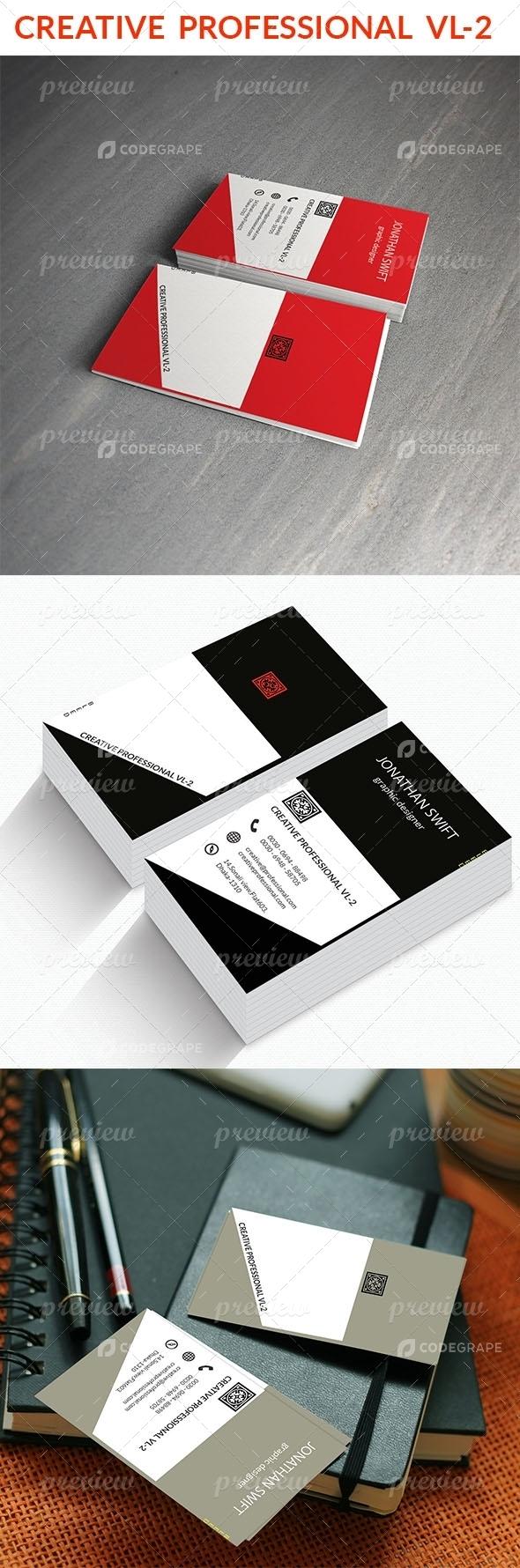 Creative Professional VL- 2 Business card
