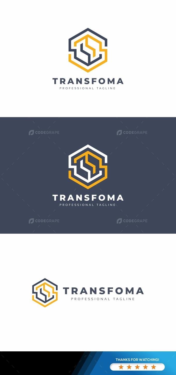Transfoma Hexagon Logo