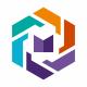 M Letter Hexagon Logo