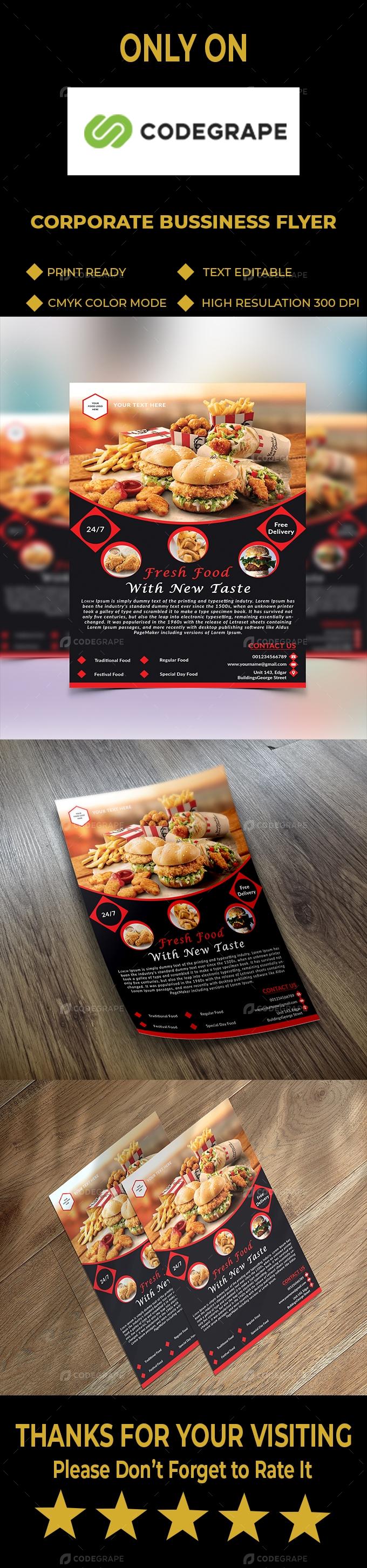 Restaurent Business Flyer