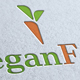 Vegan Foot Logo Template
