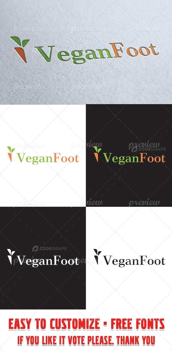 Vegan Foot Logo Template
