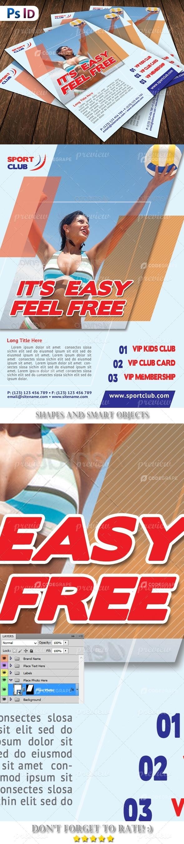 Sport Center Flyer Template
